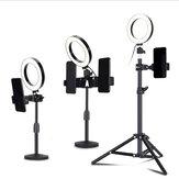 Trépied de caméra télescopique Stand Holder bâtons Selfie trépieds Selfie lumières pour iPhone 12 XS 11Pro Xiaomi Mi10 Huawei P30 P40 Pro