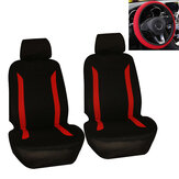 5 PCS Universal Car Double Front Seat Cover Steering Wheel Cover