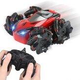 C10 RC Stunt Авто со световой музыкой 2,4 ГГц 4CH 20 км / ч Дрейфующий на 360 градусов Вращающийся Дистанционное Управление Автомобиль Игрушки