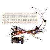 5 Adet Geekcreit MB-102 MB102 Lehimsiz Hamur Tahtası + Güç Kaynağı + Jumper Kablo Kitleri