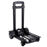 75KG Load-bearing Travel Small Trailer 4-Wheels Folding Luggage Cart Tank Wheel Trolley Shopping Cart