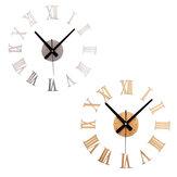 DIY Большая стена Часы Зеркало поверхности стикер Современный стиль Домашнее украшение Дизайн