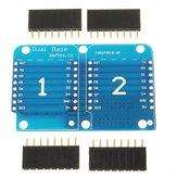 3 Unids Doble Enchufe Dual Base Shield Para D1 Mini NodeMCU ESP8266 DIY PCB D1 Tarjeta de Expansión