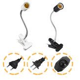 30 cm-es E27 rugalmas háziállat-meleg izzólámpa-adapter lámpatartó-foglalata kapcsos fényerő-szabályozó kapcsolóval