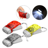 Hand Crank Flashlight Self-Pressing LED Camping Light Outdoor Hunting Tactical Torch