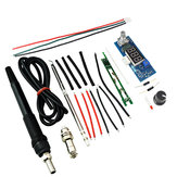STC-T12 DIY Kits Electric Unit Digital Soldering Iron Station Temperature Controller Kits for HAKKO T12 Soldering Iron Station DIY Kits with LED Vibration Switch