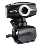 480P USB 2.0 CMOS Image Sensor Webcam with Microphone for Laptop Desktop