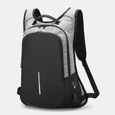 Men Business Patchwork Color 15.6 Inch Labtop Computer Bag With USB Charging Passwork Lock School Bag Backpack