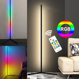 LED Corner Floor Lamp Hue RGB Colours Black Body Minimalist with Remote