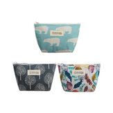 16x8x13cm Lunch Bag Cute Patterns Adult Kids Waterproof Zipper Thermal Cooler Bag Lunch Box Tote Outdoor Camping Travel