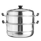 3-laags roestvrijstalen pot Stoomkoker Stoomkookpan Kookgerei Kookpot Keuken Kookgereedschap