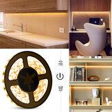 0.5 M / 2 M / 5 M contrôle tactile étanche USB LED bande lumineuse 2835SMD lampe à intensité variable pour miroir de maquillage de cuisine