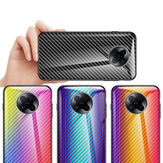 Bakeey for Xiaomi Poco F2 Pro / Xiaomi Redmi K30 Pro Case Carbon Fiber Pattern Gradient Color Tempered Glass Shockproof Scratch Resistant Protective Case
