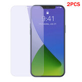 Baseus 2PCS for iPhone 12 Pro/12 Mini / 12/12 Pro Max Front Film 9H 0.3mm Anti-Explosion Anti-Blue Light Full Coverage Tempered Glass Screen Protector