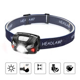 210lm Bike Headlamp 6 Modes USB Rechargeable Super Bright Gesture Sensor Work Light Camping Cycling Walking