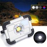30W Portable Rechargeable COB LED Camping Lantern Work Spot Light para caminhadas na pesca