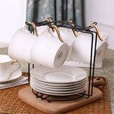 Caneca de café 6 copos suporte de árvore para copos suporte para prateleiras para cozinha e armazenamento arrumado