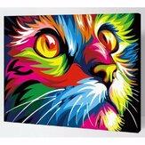 多色猫油絵セット番号キットDIY顔料絵画アートハンドクラフトツール