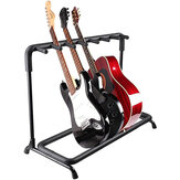 Multi Guitar Stand 7 Holder Foldable Universal Дисплей Rack - Portable Black Guitar Holder for Classical Acoustic, Electric, Bass Guitar and Guitar Сумка/Чехол