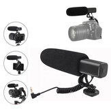 KATTO G2 Video Recording Microphone with Shock Mount&Spring Cable for Nikon SLR Camera Phone Vlog Interview Mic