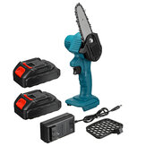 550W 21V 4'' Mini Cordless One-Hand Electric Chain Saw Woodworking Wood Cutter W/ 1pc/2pcs Battery