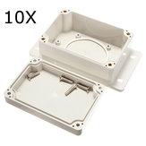 10個の100x68x50mmの白いプラスチックエンクロージャー防水電子ケースPCBボックスジャンクションケース