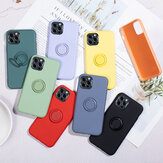 Bakeey for iPhone 12 Pro Max Case Candy Color with Ring Holder Shockproof Soft Liquid Silicone Protective Case Back Cover