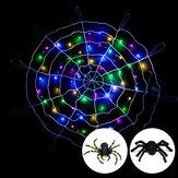 Halloween LED Spider Web String Light Outdoor Horror Party Rekwizyty Lampa Pajęczyna Upiorny wystrój