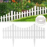 Bordo da giardino in plastica bianca flessibile da 24 pezzi