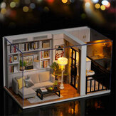 Cuteroom DIY Doll House Life Style QT-005-B Mini Collection Model Hand-assembled Model Toys with Dust Cover