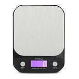 WH-B23 LCD Cucina digitale Bilancia Cibo portatile in acciaio inossidabile Scala Peso elettronico ad alta precisione Scala 10 kg / 1 g 5 kg / 0,1 g
