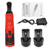 12V 4000mAh Electric Ratchet Wrench With LED Light 90° Angle Wrench Tool W/ 1/2pcs Battery