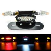 Motosiklet LED Arka Kuyruk Fren Stop İkaz Lambası Lisanslı Kap Braketli