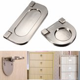 Gute Zinc Alloy Handle Embedded Invisible Wardrobe Drawer Handle Closet Knob