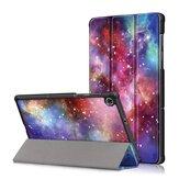 Tri-Fold Pringting Tablet Case Cover for Lenovo Tab M10 Plus Tablet - Galactics Version