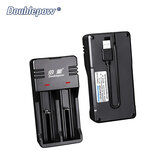 Doublepow Battery Charger Portable Smart 18650 Lithium Battery Charger 3.7V Universal Charging Box with USB Output