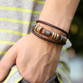 Vintage Leather Wave Braid Bracelet