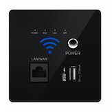 300M Wireless WIFI Wall Embedded Router USB Charging Socket Home Samrt WiFi Router for Home Use