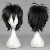 Черный прямой короткий синтетический продукт парика косплея высокотемпературных стойких волос костюма аниме