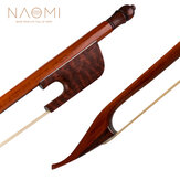NAOMI Professional Violin/Fiddle Bow 4/4 Snakewood Bow Baroque Style Snakewood Frog White Mongolia Horsehair Well Balance