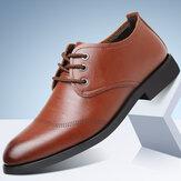 Erkekler Rahat Mikrofiber Deri Soft Bağcıklı İş Günlük Resmi Ayakkabılar