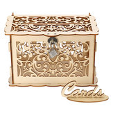 Wooden Wedding Post Box Weddings Reception Card Box With Lock Party Decoration