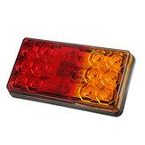 2pcs 12V-80V 24V 12 LED Rear Tail Stop Brake Light Indicator Turn Signal For Trailer RV Boat