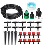 10/25m Hose Irrigation Dripper Watering Kit Automatic Irrigation System Garden Cooling Tool Kits