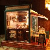 Cuteroom DIY Dollhouse Handcraft Miniature Project Kit The Star Coffee Bar Music Wooden Doll House