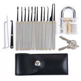 DANIU Transparent Practice Padlock z 12szt. Odblokuj Lock Picks Set Key Extractor Tools
