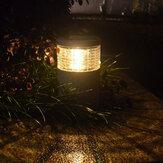 Jardin solaire blanc chaud poste de pierre blanche LED lampe lumière de décoration extérieure imperméable à l'eau