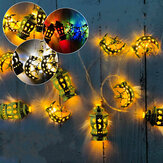 Eid Mubarak LED String Light Palace Stars Moon Ramadan Festival Décoration Lampe suspendue
