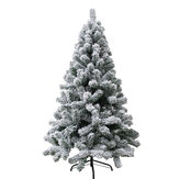 2020 Christmas Tree Pine Artificial Led White Big Nordic Flocking New Year Decoration for Door Wall Ornaments Souvenirs Scenes Decor