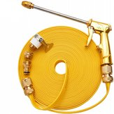10M Pressure Washer Cleaning Hose Golden Tube +Extension Water G-un +5 Connectors